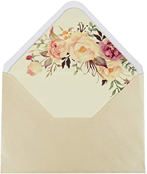 Amazon.com: Doris Home - Sobres para invitaciones de boda ...