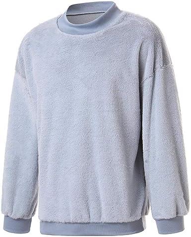 OverDose hombre Abrigos Hombre Invierno Rebajas Manga Larga Sudadera Jersey De Color Liso Top Camiseta OtoñO Outwear Ocasional Blusa: Amazon.es: Ropa y accesorios