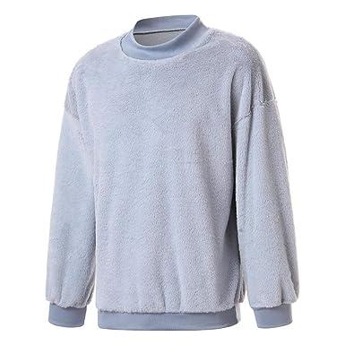 Yvelands Big & Tall Camisas de Moda, Activewear para Hombre O-Cuello, Felpa, suéter cálido, Prendas de Abrigo y Abrigos: Amazon.es: Ropa y accesorios