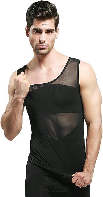 Jolie Hombres Escultor De Cuerpo Camisa Adelgazante Perder Peso Chaleco Elástico Esculpir Compresión Camiseta Sin Mangas Body Shaper: Amazon.es: Deportes y aire libre