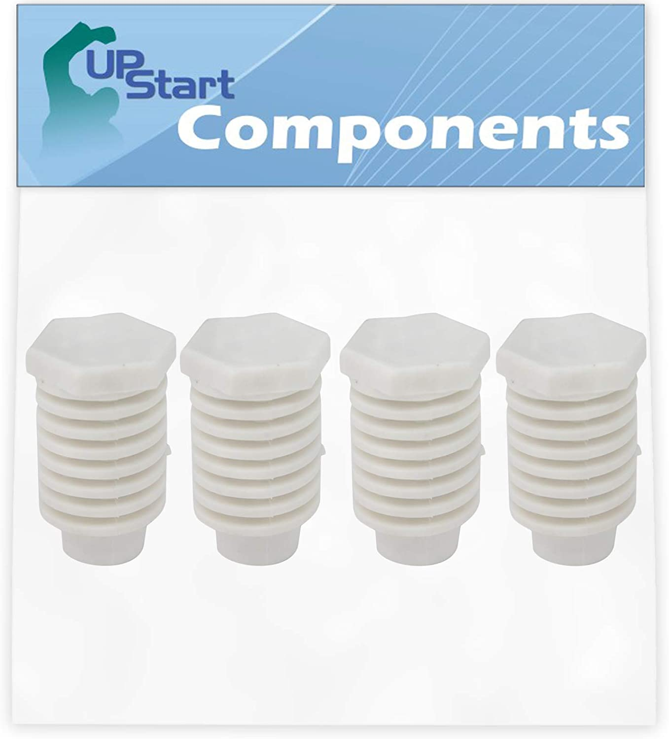 4-Pack 49621 Leveling Foot Replacement for Whirlpool WED5800BW0 Dryer - Compatible with 49621 Dryer Leveling Leg Foot - UpStart Components Brand