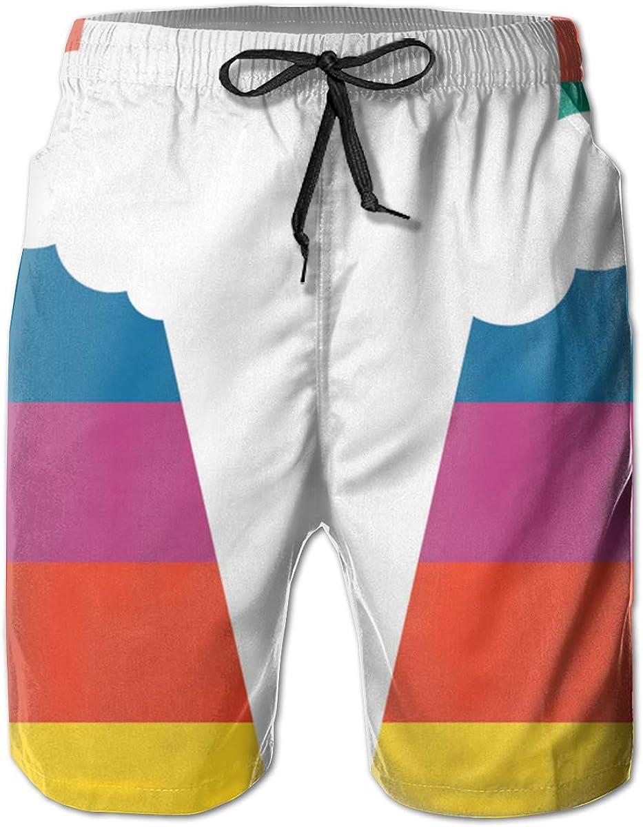 Retro Gay Rainbow Flag Mens Summer Fast Dry Beach Shorts Swim Trunks Boardshorts Surf Cargo Shorts