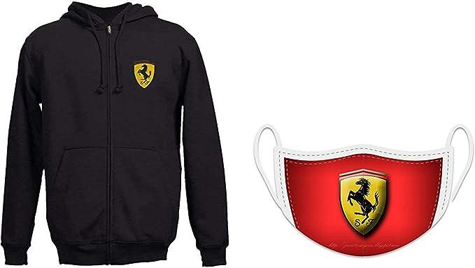 Felpa con cappuccio da uomo Scuderia Ferrari Team FORMULA UNO 1 Felpa con cappuccio Con cappuccio NUOVO!