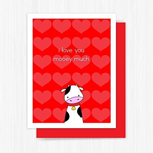 amazon com cute valentine card cow love pun handmade greeting handmade