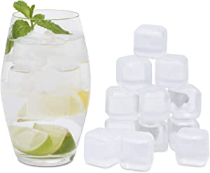Reusable Ice Cubes For Drinks - Chills Drinks Without Diluting Them - Pack Of 30 With Storage Tube