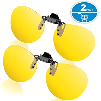 cd77f0114d Amazon.com  Splaks Round Clip-on Sunglasses