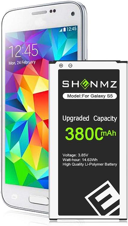 Upgraded I9600 G900H 1 Years Warranty EB-BG900BBC 3800mAh Li-Polymer Replacement Battery for Samsung Galaxy S5 G900A AT/&T SM-G900V G900F SM-G900P G900R4 Galaxy S5 Battery, SM-G900T