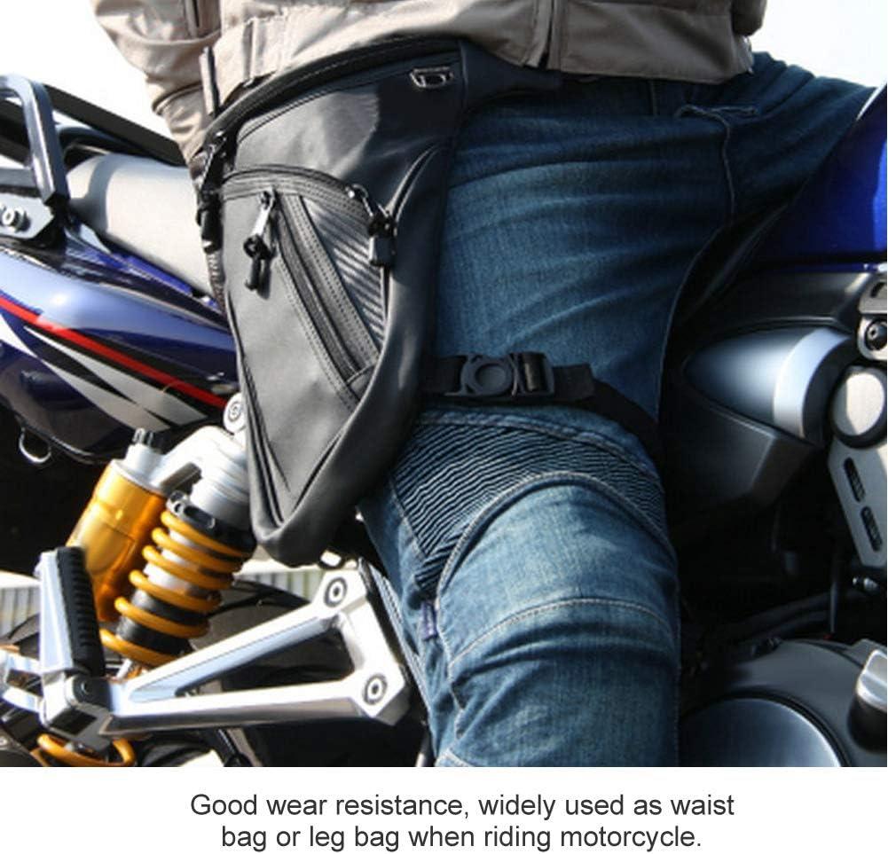 Yctze Leg Bag Motocicleta Impermeable Hombres Moda Moto Motocicleta Bolsa Durable Riding Ri/ñonera