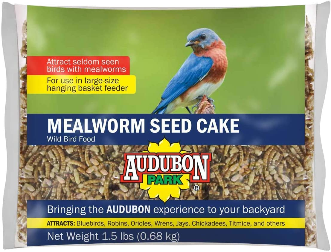 Global Harvest Foods 12486 Food Bird Cke Seed Mlwrm, 1-Pack, Clear