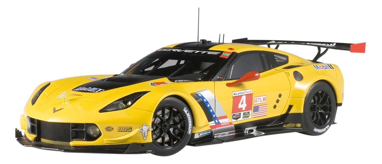 AUTOart – Corvette C7R GTE Pro Winner 2016 Chevrolet Fahrzeug Miniatur, 81606, gelb Schwarz Maßstab 1 18