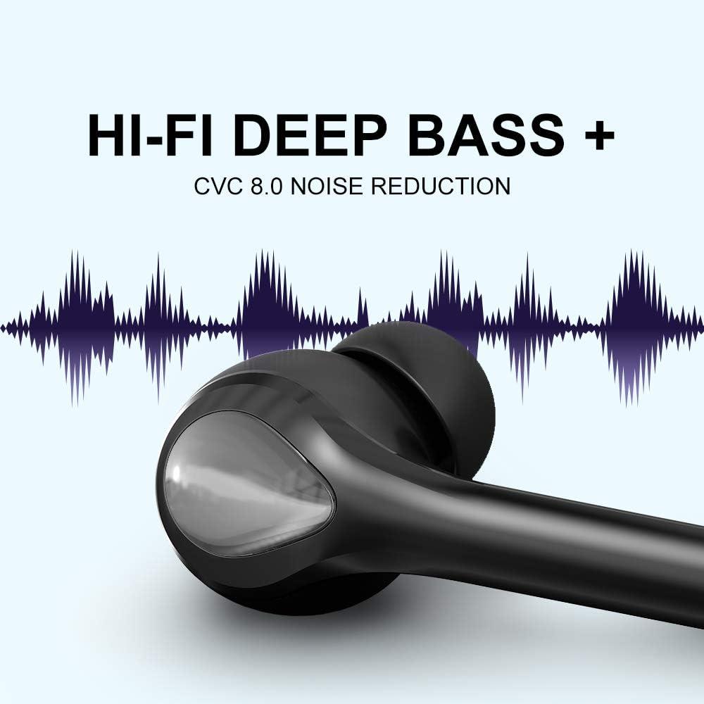 Running Auriculares Inalambricos Bluetooth 5.0 HiFi Mini Est/éreo In-Ear Earbuds Headphones Bluetooth con IPX7 Impermeable Y Micr/ófono Integrado 50h Reproducci/ón para Deportivos