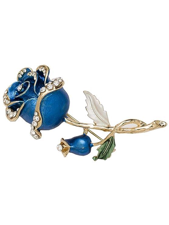 Broche exquisito de la decoración del Rhinestone de la broche de la flor de las señoras para las fiestas del día de boda