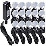 Yescom 15pcs LED Deck Light Outdoor Indoor Garden Step Stair Yard Landscape Cool White Lamp W/Transformer