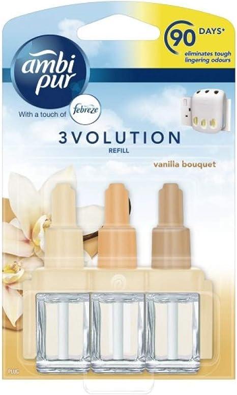 Ambi Pur 3 X 3volution Elektrische Nachfüllung Für Lufterfrischer Vanille Bouquet 20 Ml Drogerie Körperpflege
