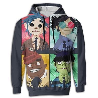 4ba9ac25 Amazon.com: IEIDJFF Humanz - Gorillaz - T-Shirt Teepublic 1 Hooded With A  Pocket Rope Hat customization Fashion Novelty 3D Men's: Clothing