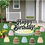 Amazoncom happy birthday letters yard card 13 pcs w for Happy birthday yard letters