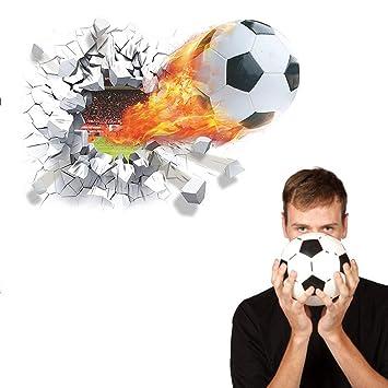 3d Wandtattoo Geknackte Fussball Effekt Wandaufkleber Pvc Selbstklebend Wandtattoo Wand Kinderzimmer Wohnzimmer Hausdekoration Jugendzimmer Jungen