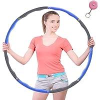 HKBTCH Hula Hoop voor gewichtsvermindering, 6-8 segmenten, afneembare hoelahoep voor volwassenen en kinderen, met mini…