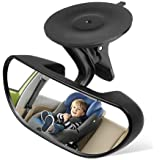 Rearview Mirror Baby Mirror for Car Rear View Mirror Backseat Mirror for Infant Toddler Child with 360 Degree Adjustable Strengthen Suction Cup