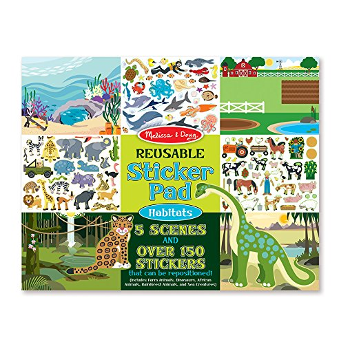 Melissa & Doug Habitats Reusable Sticker Pad - Craft Pad