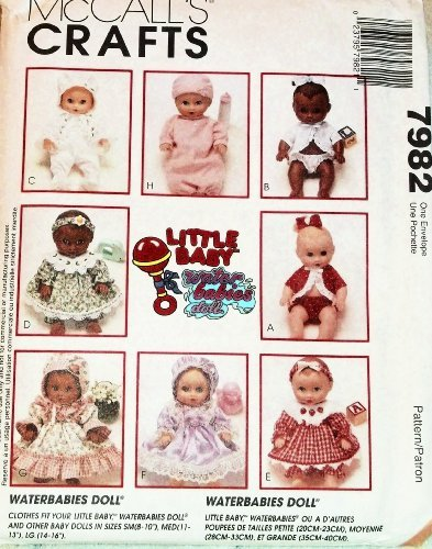 OOP McCall's Crafts Pattern 7982. Clothes for Dolls Such as Waterbabies. Szs: Small (8-10