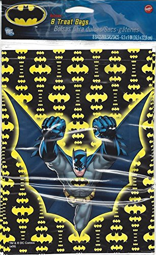 Amazon.com: Batman Party Treat Bags with Handle 8 Ct ...