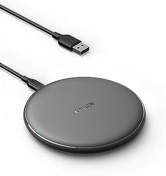 Anker - Cargador inalámbrico PowerWave, 7,5 W, cargador para iPhone 11/XR/XS/X/8, 10 W para Samsung Galaxy S20/S10/S9/S9+/S8 (fuente de alimentación no incluida, cable de 120 cm incluido), color negro: Amazon.es: Electrónica