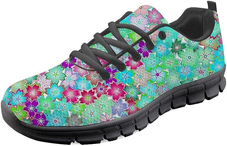 Zapatillas de Deporte para Hombre, para Primavera, Verano, con Estampado de Flores, Ligeras, para Caminar, Senderismo, Entrenadores: Amazon.es: Zapatos y complementos