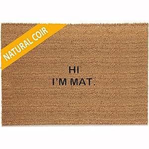 Classic Coir Funny Mat - HI I'M MAT 2' x 3'