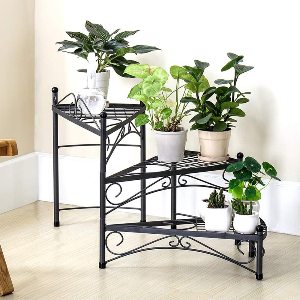 autentico GYAO-Scaffali porta piante Iron Flower Shelf Living Room Storage Storage Storage Rack Space Simple Balconcino Rack Rack di stoccaggio Multistrato  vendite dirette della fabbrica
