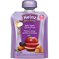 HEINZ Junior - Apple, Squash, Carrot & Prune Pouch, 6 Pack, 128ML Each