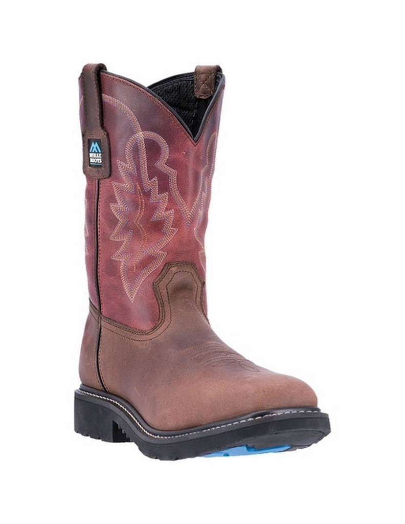 McRae Industrial Men's 11'' Non-Metallic Electrical Hazard Pull On Work Boot Brown 10 EE by McRae Industrial (Image #1)