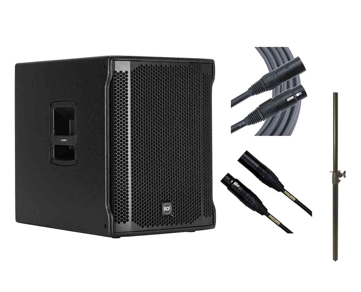 RCF Sub 705-AS II + Subwoofer Pole + Mogami Cables