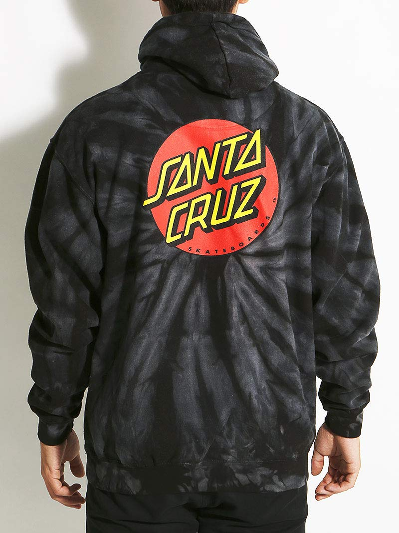 Santa Cruz Men's Classic Dot Heavyweight Hoody,Large,Spider Black