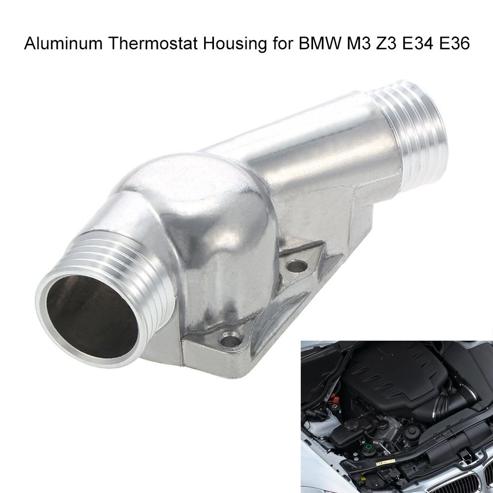 Amazon.com: Toogoo Aluminum thermostat housing cover thermostat housing for BMW  M3 Z3 E34 E36: Automotive