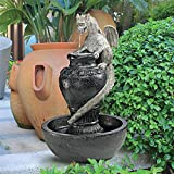 Water Fountain with LED Light - The Viper Garden Decor Dragon Fountain - Outdoor Water Feature