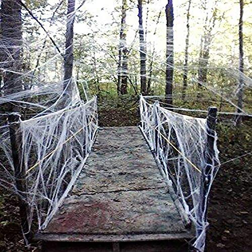 Fake Spider Web Halloween Party Decorations Props 800 sqft
