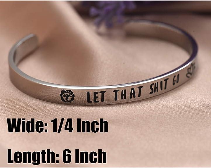 Hook Bracelet Let That Shit Go