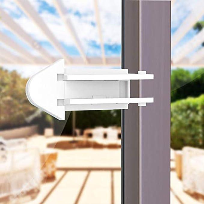 frisch Porte coulissante serrures de sécurité enfants Verrouille fenêtres  en verre de placards Verrou de porte pour bébé Aucun outil nécessaire et  facile à ... 25ceab9170d