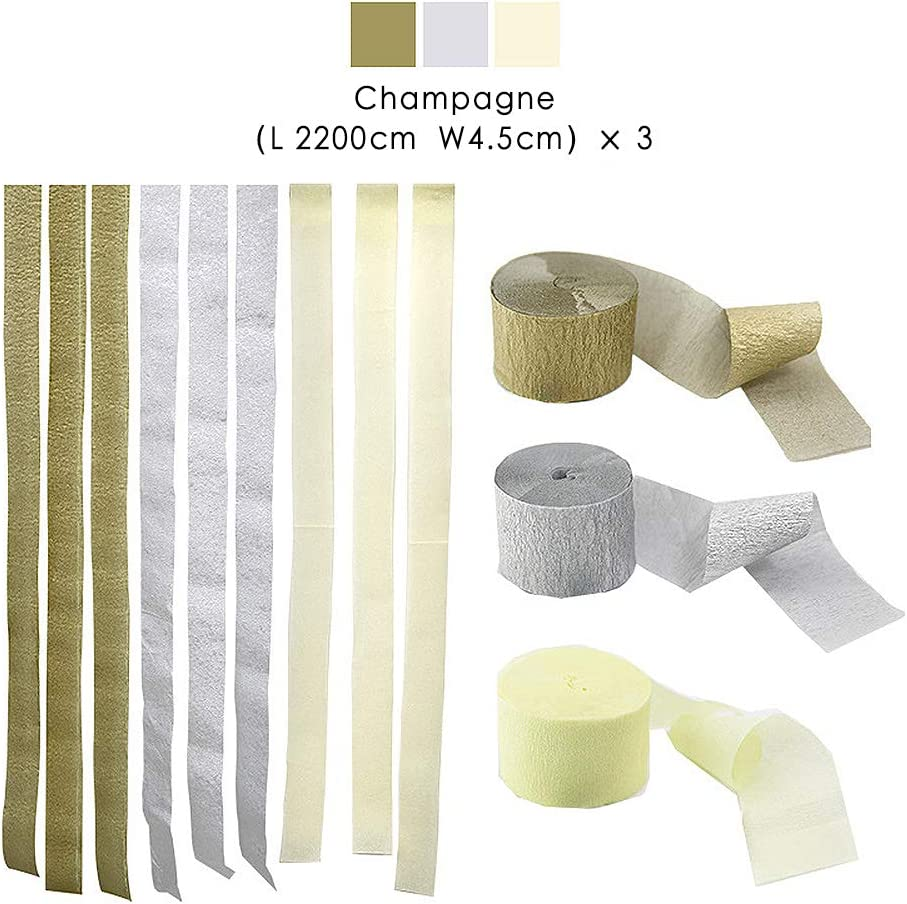 3 Packs Paper Streamer Orange Class Party Bining Streamers Paper 216ft Long 1.77in Wide Orange kits Crepe Paper Streamers Family Gathering Thanksgiving, Tassels Streamer Paper for Birthday Party