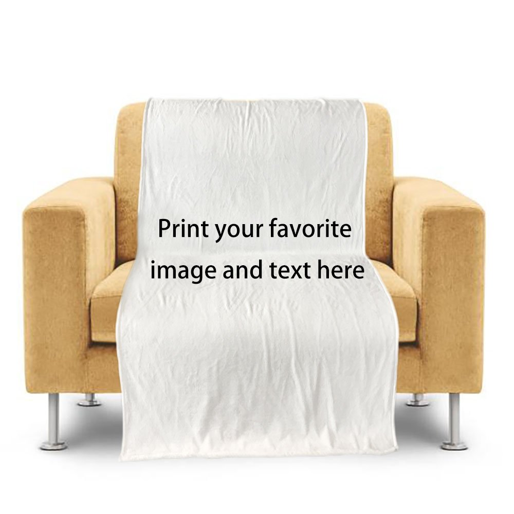 CafeTime Customize Home Throw Blanket With Your Image Text Bed Sofa Couch Blanket Baby Kid Blanket Personalized Indoor Outdoor Blankets Good Gift For Children Man Woman 50''x60''