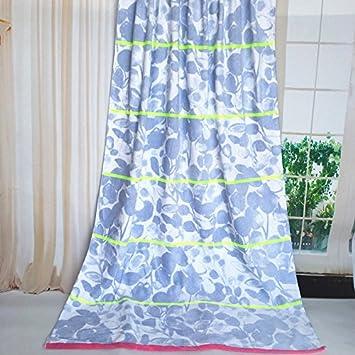 Mangeoo Toallas De Baño De Algodón Absorbente De Agua Suave Toalla Playa Impresión Personalizada Toalla De Baño De Algodón Azul Claro,Hojas,180*105Cm.: ...