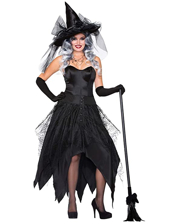 XINSH - Disfraz de bruja para Halloween, carnaval, navidad.