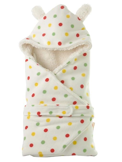 Happy Cherry – Saco de dormir con capucha recién nacido bebé niño Niña niño acolchada polar