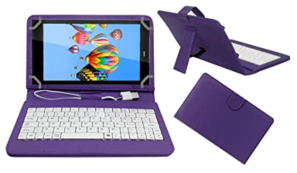 ACM USB Keyboard Tablet CASE Holder Cover Compatible with DIGIFLIP PRO XT811 with Free Micro USB OTG   Purple Mobile Accessories