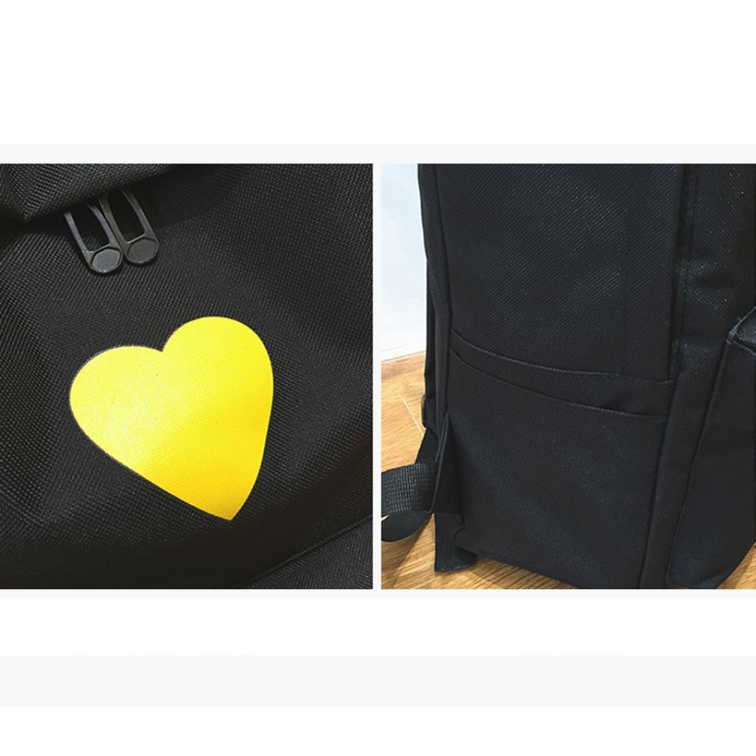 Travel Backpack ,Creazy Women Girl Fashion Love Print Preppy Style School Bag Travel Backpack Bag+Wallet (Black) by Creazydog (Image #9)