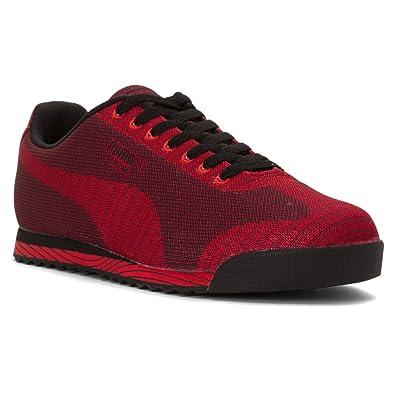 25fe3d95347128 PUMA MENS ROMA WOVEN PRINT SNEAKER Red - Footwear Sneakers 9