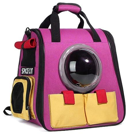ZHH Mochila para Mascotas Picnic portátil para Perros y Gatos Mochila para Mascotas cápsula Espacial para