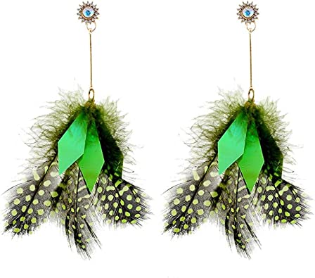 Colorful Leaves Pendant Jewelry Women Girls Long Dangle Hook Earrings Gifts Multicolor