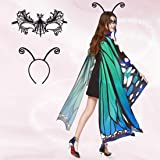 Halloween Butterfly Wings for Women, 3PCS Butterfly